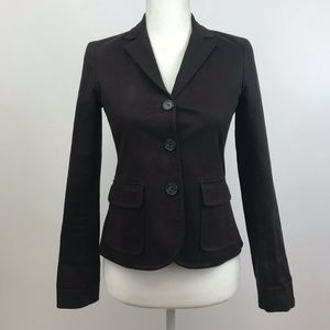 f6c75b2637 Theory Brown 3 Button Blazer Jacket Size 2